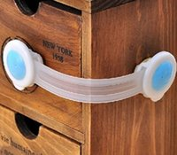 Wholesale Drawer Gate - S5Q 20pcs Long Cute Cartoon Bendy Door Drawers Safety Lock For Child Kids Baby free shipping