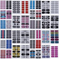 Wholesale Nail Decoration Designer - Brand New Designer Nail Stickers Mixed Styles Nail Art Stickers Finger Nails Tips Decal DIY Decorations 12pcs set ZZV*5