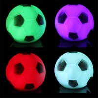 Wholesale Football Holidays - 7Colour Football Night Light Color Changed LED Football Soccer Light LED Night Light Party Holiday Decoration Xmas Gift Present For Children