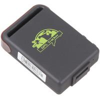 quads en línea al por mayor-GPS localizador para vehículos TK102 Banda cuádruple Localizador de vehículos en línea global GSM / GPRS / GPS Dispositivo de seguimiento Soporte de tarjeta TF con dos baterías