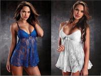 pijamas de lingerie babydoll venda por atacado-Plus Size XXXL Sexy sleepwear Mulheres Moda Lingerie Erótica Kimono Langerie Babydoll Sexy Underwear Pijama Para Mulheres Sleepwear Nightgowns