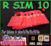 Wholesale New Cdma Mobiles - New R SIM 10 RSIM 10 R-SIM 10 Unlock Card Perfect unlock iphone 6 plus iphone 6 5s 5 4s IOS8 ios 8.x AT&T T-mobile Sprint WCDMA GSM CDMA