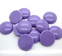 Wholesale 22mm Purple Beads - 50Pcs Purple Resin Round Beads Flatback Cabochon Scrapbook Craft Fit Phone Embellishment 22mm