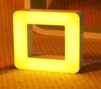 Wholesale keyboard light plugs resale online - Creative smart sensor night light baby night light LED energy saving plug sound and light control two in one box lights