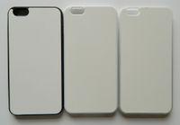 tpu sublimation iphone fall großhandel-Für iphone 6 plus 2d Gummi-TPU-Sublimationsfall mit leerer bedruckbarer Aluminiumplatte 100pcs / lot