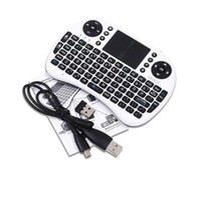 Wholesale Bluetooth Keyboard Keypad - Rii i8 Remote Fly Air Mouse mini Keyboard Wireless 2.4G Touchpad Keypad For MXQ MXIII MX3 M8 CS918 M8S Bluetooth TV BOX Black 10pcs