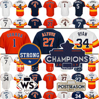 Wholesale Craig Grey - 2017 Houston Strong WS Champions Patch 27 Jose Altuve 34 Nolan Ryan Jersey 4 George Springer Carlos Correa Jeff Bagwell Craig Biggio Jerseys