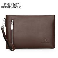 Wholesale Leather Envelopes For Men - FEIDIKABOLO New 2017 Business Male Leather Purse Men's Clutch Envelope Clutches For Men Handy Bag Wallet Man Brand Designer Bags