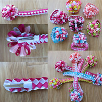 Wholesale good braiding hair resale online - 12pcs Blessing Good Girl Braid Loopy Puffs Ribbon quot Hair Bow Clip Fashion headbands Children Headwear No A8b