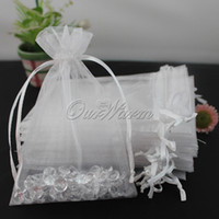 "Wholesale Sheer Pouches Wholesale - 100pcs lot Sheer Organza Pouch 4""x6"" 10x15cm Wedding Favor Jewelry Gift Candy Bag Many Color Optional"