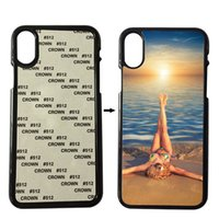 Wholesale Sublimation Cases Iphone 4s - Plastic Sublimation Case For iPhone 6 6s Plus 7 8 Plus X 4S 5S SE Cover 2D Sublimation With Blank Metal Inserts
