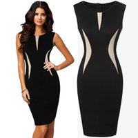 Wholesale Beautiful Womens - Womens Cool Beautiful Ladies Formal Party Pencil Dress Business Dress