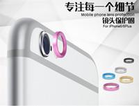 cam i6 toptan satış-Arka Kamera Cam Lens Metal Koruyucu Hoop Yüzük Guard Daire Kapak Kılıf Koruyucu apple iPhone 6G 6 Artı 4.7 '' 5.5 '' inç iPhone6 i6