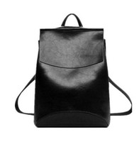 Wholesale Packaging Design Cell Phone - 2017 Design Pu Women Leather Backpacks School Bag Student Backpack Ladies Women Bags Fashion Leather Package