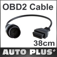 Wholesale Mercedes Obd Adapter - Wholesale-38Pin to 16Pin OBD 2 OBD2 Female Adapter Connector Cable Car Accessories Tool for Mercedes Benz Brand Free Shipping Wholesale