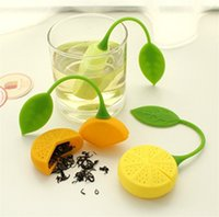 Silicón Creativo de alta Calidad Diseño de Limón Tea Infuser Loose Tea Leaf Colador Herbal Spice Filter Household Difusor 5000 unids