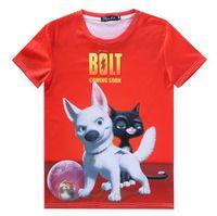 Wholesale Smart T V - [Magic] Cartoon Smart dog and cat both side print 3d t shirt women short sleeve round neck casual t-shirt size S-XXL free ship