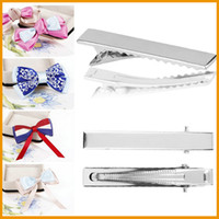 Wholesale 60mm Crocodile Alligator Teeth Clips Hair Bows Pinch DIY Accessories Silver Hot New