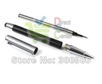 Wholesale Ipad2 3g - Wholesale-2 in 1 Ink Ballpoint Metal Stylus Touch Pen for Apple IPhone 3G 3GS 4S 4 4G iPad 2 3 iPad2 iPad 3 Wholesale DHL Free Fast