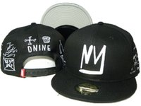 Wholesale d9 snapbacks - new arrival men snapback New arrival DNINE Cap snapbacks D9 Reserve black men's hats hip top caps street hat adjustable ball caps DDMY