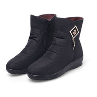 Wholesale Medium Air Wedge - Winter boots winter warm Non-slip waterproof Women's shoes mother boots everyday cotton autumn boots women shoes. XDX-068