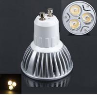 Wholesale Spot 12v Led 6w Mr16 - 10pcs lot 110~220v GU10 MR16 E27 E14 3x2w day white warm white High power led spot lights