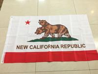 Wholesale flag california - 2017 Free shipping New California Republic Flag 3x5 FT 150X90CM Banner 100D Polyester Custom flag metal Grommet