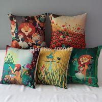 Wholesale Princess Pillow Cases - Wholesale-The Wizard of Oz Pillow Cover 1Pc 17'' Fairy Tale Princess Pillow Case Decorative Home Arts Cojines