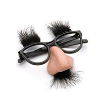 Wholesale Huge Glass Toys - Fuzzy Puss Fake Nose Eyebrows Glasses Novelty Toy by Loftus Fuzzy Puss Huge Nose With a Mustache and Bushy Eyebrows on Glasses 10pcs lot