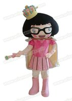 Wholesale Mascot Human - Fast Delivery lovely princess girl mascot costume human mascot Adult Fancy Costume Party dress