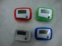 Wholesale Pocket Calorie Counter - LCD Pedometer Step Counter MINI Calorie Counters Walking Distance New Pocket variety of color
