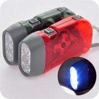 Wholesale Power Dynamo - Hand Dynamo Generator Hand-pressing LED Flashlight Brand No Battery Hand Pressing Powered 3 LED Flashlight dynamo torch CYA5
