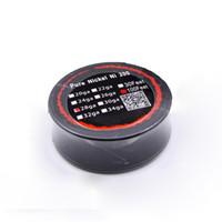 Wholesale Feet Temperature - Pure Nickel Ni200 Wire Temperature Control Wire 100 Feet 22 24 26 28 30 32 Gauge for DIY RDA E Cigarettes Atomizer Coils
