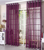 Wholesale Eco friendly Solid Color Linen Sheer Curtain For Living Room Bedroom Tulle Curtains