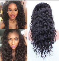 Wholesale Ladies Long Straight Wigs - Free shipping cheap brazilian hair twist braided human hair lace front wigs so soft no tangle