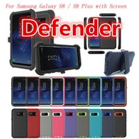 Robot Armor para Samsung Galaxy S8 / S8 + Plus Defender Case com Screen Protactor Belt Clip Holder 360 Degree Rotation DHL Free Shpping