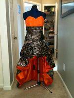 más el vestido de playa de color naranja al por mayor-Naranja y Camo Vestidos de novia de playa 2016 Stain Drapeado Ruffes A Line Hi Lo Vestidos de Novia fashion Plus Size Vestidos de novia