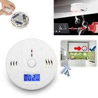 Wholesale Digital Home Alarm - LCD CO Carbon Monoxide Poisoning Sensor Alarm Warning Detector Tester Home Security Poisoning Smoke Gas Sensor Warning Alarms OOA3496