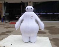 Wholesale Ems Free Chiffon - 100% real images suit Big Hero 6 Baymax Mascot Costume Cartoon Adult Size Big Hero mascot EMS Free Shipping