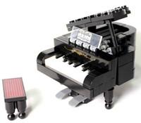 Wholesale Block Piano - New Bricks Building Blocks Enlighten Children 411 Diy Educational Piano 141pcs Small Models & Building Toy freeshipping