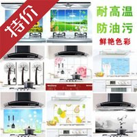 Wholesale Cheap Kitchen Tile Stickers - Cheap B04-2-09 household kitchen oil sticker queen grade transparent oil and waterproof tile wall stickers