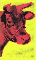 Wholesale Life Size Cows - Abstract oil painting, custom size, Cow, hand-painted on linen