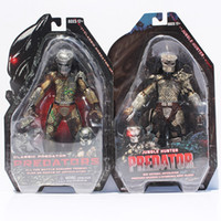 "Wholesale Hunter Figures - 7"" 18CM NECA Jungle Hunter Movie Predator 25th PVC Action Figure Collection Toy Retail Free shipping"