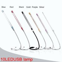 Wholesale computer reading books for sale - Group buy Metal Material LED USB light Book lamps LEDs flexible colors Reading Bulb for Notebook Laptop PC Computer