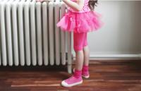 Wholesale Dress Tutu Skirt Leggings - Summer Girls' Culotte Ballet Skirt Children Leggings Bow TuTu Five Sub Pants Dance Skirt Korea Girls Dress Children Clothing 3 Color A0074