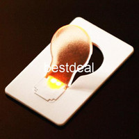 Wholesale Wholesale Christmas Novelty Items - Novelty Items Emergency ABS Small THIN Portable LED Card Light Bulb Lamp Pocket Wallet Size 2016 HOT Search wholesale