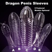 Wholesale Dragon Penis - 20151205 1PC Newest Reusable Penis Sleeve Dragon Cock Ring Sleeves Penis Extender Condoms Sex Toys Sex Products TT016