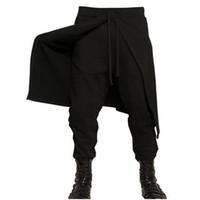 Wholesale Canvas Pants - Wholesale- Men Pants - New Arrival Black Tide Men's Casual Pants Fast Men Costumes Harem Pants Nightclub Hairstylist #1869796
