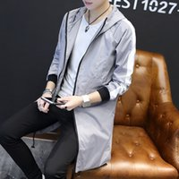 Wholesale Especially Man - Wholesale- British Coat Men Gothic Jacket Especially Long Irregular Design Mainly Male Reflective Windbreaker Mens Cloak Sleeve F25