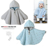 Wholesale Dotted Cloak - Fashion Combi Baby Coats boys Girl's Smocks Outwear Fleece cloak Jumpers mantle Children's clothing Poncho Cape FREE SHIPPING